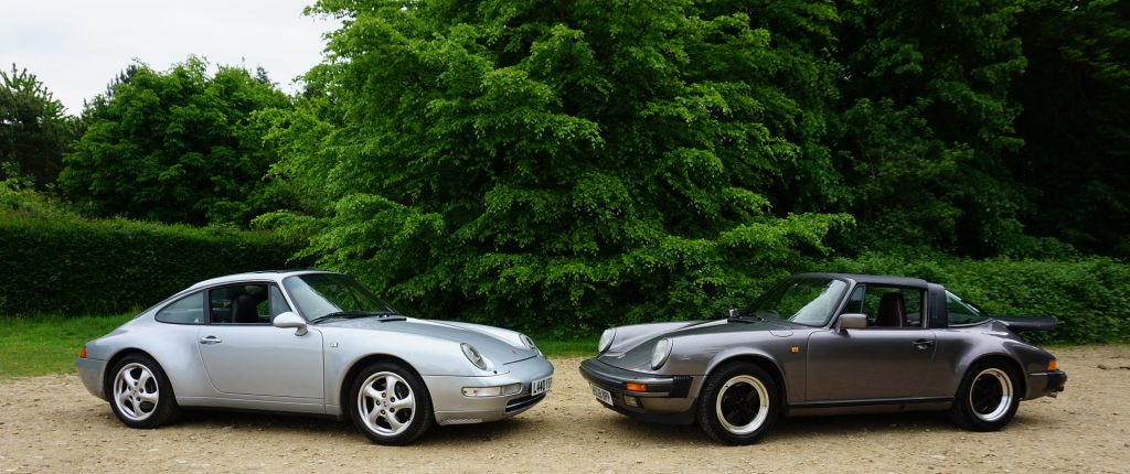 Porsche 911 993(links) G-Modell(Rechts)